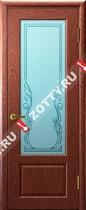 Межкомнатные двери Ульяновские двери Валенсия (Стекло Красное Дерево)