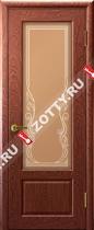 Межкомнатные двери Ульяновские двери Валенсия (Стекло 2 Красное Дерево)