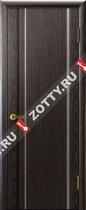 Межкомнатные двери Ульяновские двери ТЕХНО Глухая Черный Абрикос