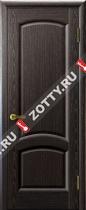Межкомнатные двери Ульяновские двери ЛАУРА (Глухая Черный Абрикос)