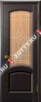 Межкомнатные двери Ульяновские двери ЛАУРА (Стекло Черный Абрикос)