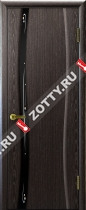 Межкомнатные двери Ульяновские двери Диамант 1 Черный Абрикос
