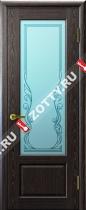 Межкомнатные двери Ульяновские двери Валенсия (Стекло Черный Абрикос)