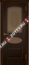 Межкомнатные двери Ульяновские двери Оливия Орех (Стекло)