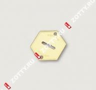 Накладка на сувальду (1 шт) MOTTURA 95.223 (Латунь)