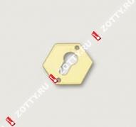 Накладка на цилиндр (1 шт) MOTTURA 95.297 (Латунь)