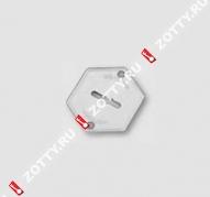 Накладка на сувальду (1 шт) MOTTURA 95.223 (Хром)