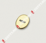 Накладка на сувальду (1 шт) овальная форма со шторкой MOTTURA 95.324 (Хром)