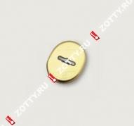 Накладка на сувальду (1 шт) овальная форма MOTTURA 95.323 CS (Матовый хром)
