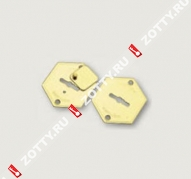 Комплект накладок (2 шт) на сувальду MOTTURA 95.299 (Хром)