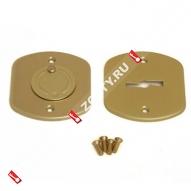 Накладка МЕТТЭМ сувальдная (комплект, сталь, под мат.зол.) (Матовое золото)