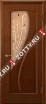 Межкомнатные двери Ульяновские двери МАРИЯ (Стекло Красное Дерево)