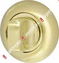 Ручка поворотная ARMADILLO WC-BOLT BKW8-1SG/GP-4, без отв. (Золото/матовое золото)