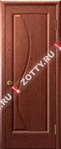Межкомнатные двери Ульяновские двери ФЛОРА (Глухая Красное Дерево)