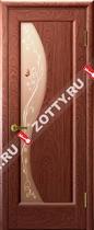 Межкомнатные двери Ульяновские двери ФЛОРА (Стекло Красное Дерево)