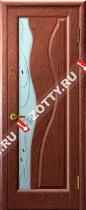 Межкомнатные двери Ульяновские двери ТОРНАДО (Стекло Красное Дерево)