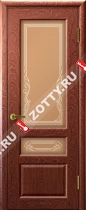 Межкомнатные двери Ульяновские двери Валенсия 2 (Стекло Красное Дере