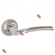 Ручка раздельная Punto (Пунто) COMETA ZR SN/CP-3 матовый никель/хром