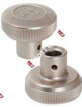 Вертушка под цилиндровый механизм MOTTURA 99.506NS0C (d 10.1) (Матовый никель)