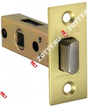 Защелка врезная ARMADILLO LH 120-45-25 SG BOX /прям/ (Матовое золото)