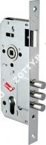 Корпус замка врезного цилиндрового KALE KILIT 194/3MR (45 mm) w/b (Никель)