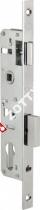 Корпус замка врезного цилиндрового узкопроф. KALE KILIT 153/P (25 mm) w/b (Никель)