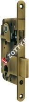 Замок межкомнатный ARMADILLO под цилиндр. механизм 1ригель+защёлка с отв. планкой LH25-50 AB BOX (Бронза)