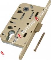 Замок межкомнатный AGB под цилиндрич. механизм B01103.50.23 (Матовое золото)