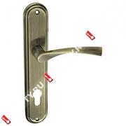 Ручка дверная на планке Fuaro 0112 CK-85/AB (Бронза)