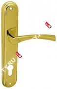 Ручка дверная на планке Fuaro 0112 CK-85/PB