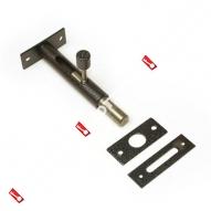 Задвижка дверная врезная ЗД-05 (Серебро)