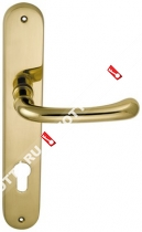Ручка дверная на планке M.B.C. Beta (Латунь)