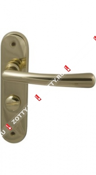 Ручка дверная на планке M.B.C. Ghibli WC for AMIG (Латунь)