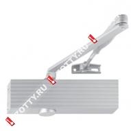Дверной доводчик ECO TS-15 EN2-5 в комплекте с тягой (Серебро)