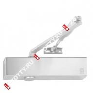 Дверной доводчик ECO TS-20 BC EN2/3/5 цвет RAL 9006/матовая нержавеющая сталь (Серебро)