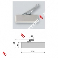 Дверной доводчик ECO TS-40 BC DC SIZE2-5 цвет RAL 9006 (Серебро)