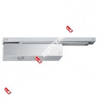 Дверной доводчик ECO TS-61 rail B BC EN2-5 цвет RAL 9006 нержавеющая сталь (Серебро)