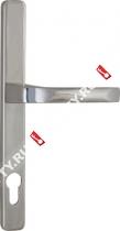 Ручка дверная на планке Fuaro 07 PVC-85/CP (Хром)