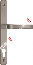Ручка дверная на планке Fuaro 07 PVC-92/CP (Хром)