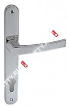 Ручка дверная на планке Fuaro 06 PVC-85/CP (Хром)