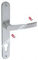 Ручка дверная на планке Fuaro 06 PVC-85/SC