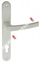 Ручка дверная на планке Fuaro 06 PVC-85/WHITE