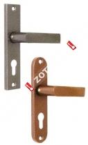 Ручка дверная МЕТТЭМ для ЗВ4 НР0901 (плоская) (Латунь)
