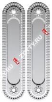 Ручка для раздвижных дверей ARMADILLO SH010/CL SILVER-925 (Серебро)