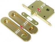Ручка дверная для раздвижных дверей, с фиксатором, к-кт Laredo LD 3 BK (Золото/хром)