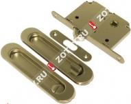 Ручка дверная для раздвижных дверей, с фиксатором, к-кт Laredo LD 3 BK