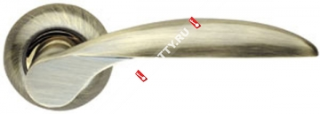 Ручка дверная раздельная Armadillo Diona LD20-1AB/GP-7 (Бронза/золото)
