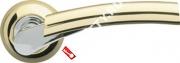 Ручка дверная раздельная Armadillo Vega LD21-1GP/CP-2