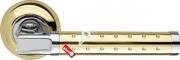 Ручка дверная раздельная Armadillo Eridan LD37-1GP/CP-2 (Золото/хром)