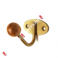 Крючок-вешалка с дерев шариком ТРИБАТРОН КВД-1